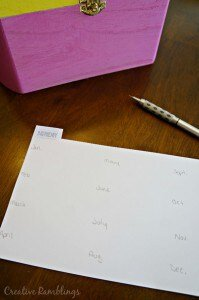 Organize your cards with a simple card file and list the birthdays front and center. #SendSmiles #ad