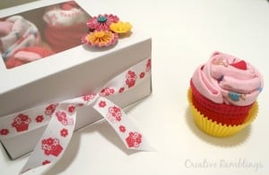 Create a onesie cupcake gift with just a few supplies.