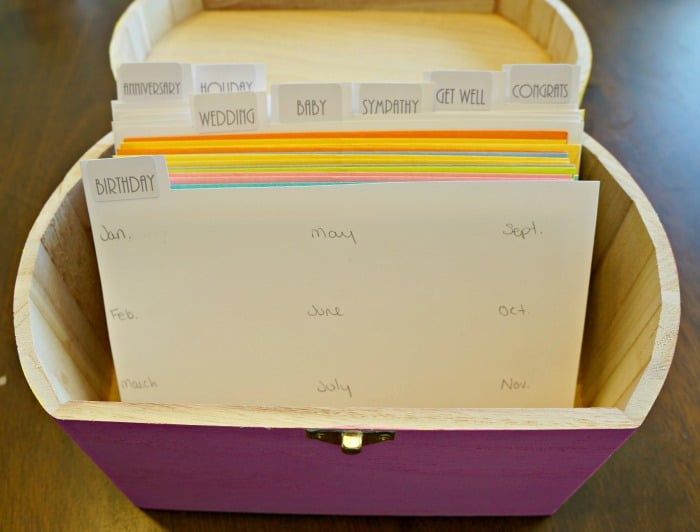 Divided cards in an organized card file #Sendsmiles #ad
