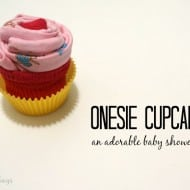 Onesie Cupcake Gift Easy Video Tutorial