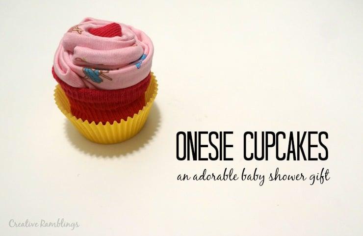 Onesie Cupcake Gift Easy Video Tutorial