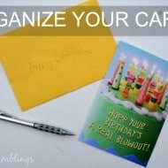 An Easy Card File to Stay Organized