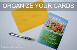 Organize all your cards with a simple card file #SendSmiles #ad