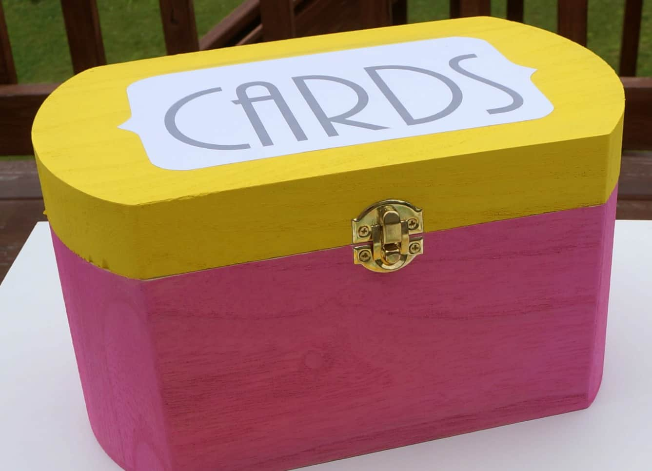 Painted and organized card file #SendSmiles #ad