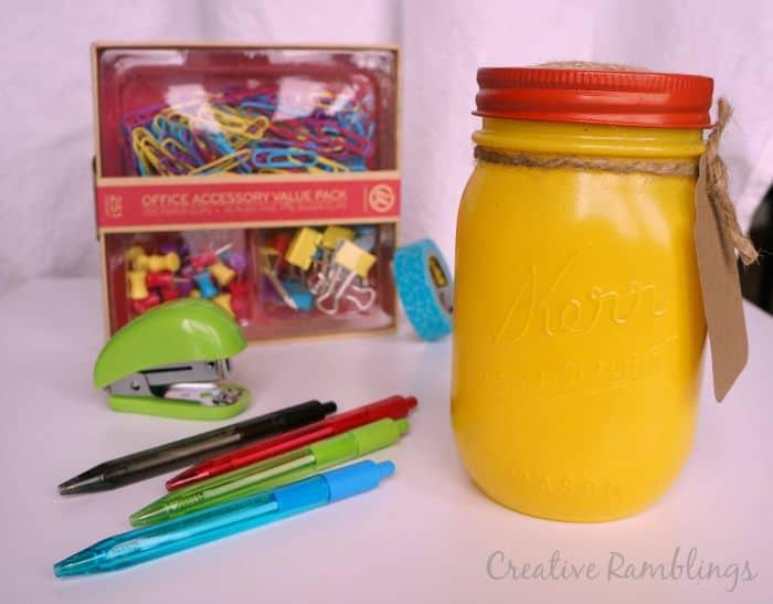 Back to school mason jar gift