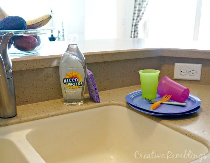 Green Works Dishwashing liquid #NaturallyClean [ad]