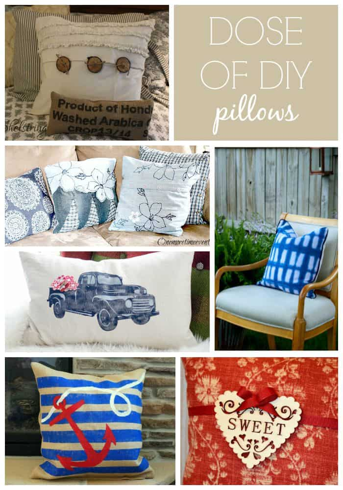 DIY pillows, inspiration for a creative DIY pillow.   #DoDIY