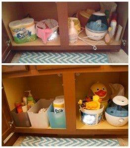 Easy under the sink storage