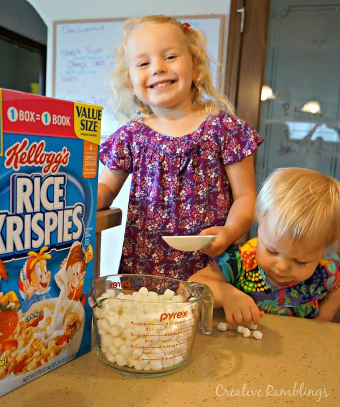 Make a batch of Rice Krispies Treats with kids and enjoy them with a good book. #Back2SchoolReady [ad]