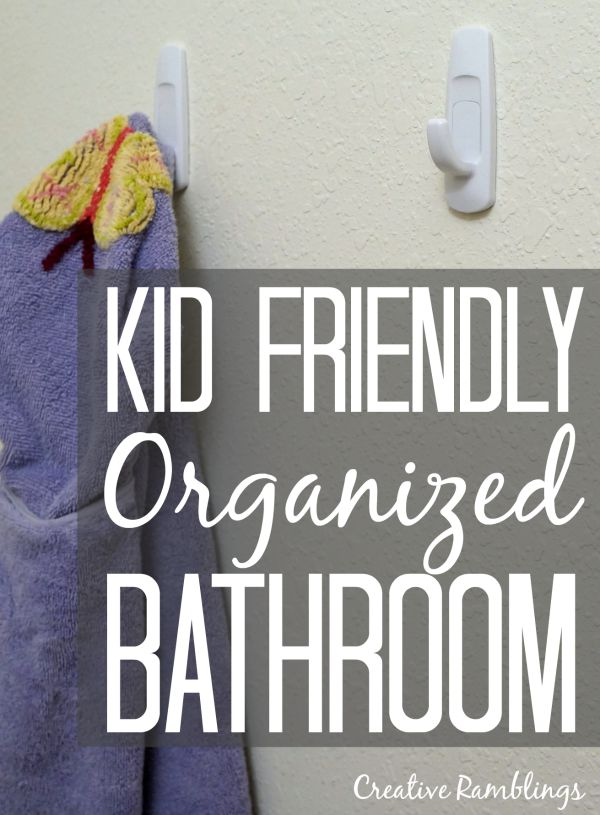 Create a kid friendly organized bathroom with a few simple and inexpensive items #ScottTubeFree [ad]