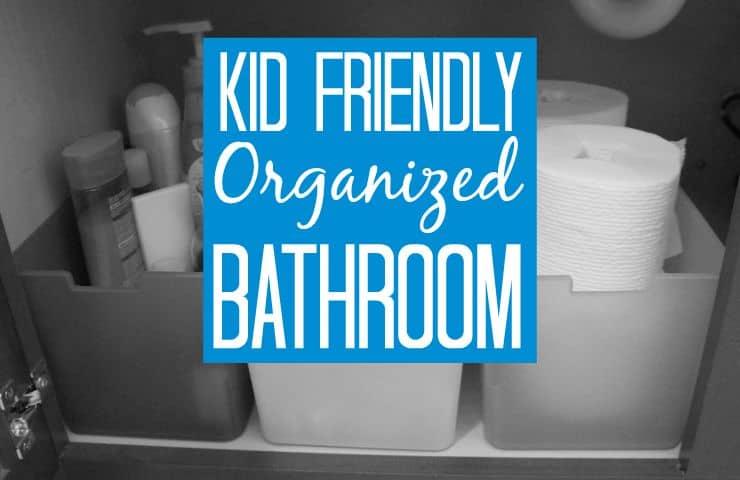 Kid friendly organized bathroom #ScottTubeFree [ad]