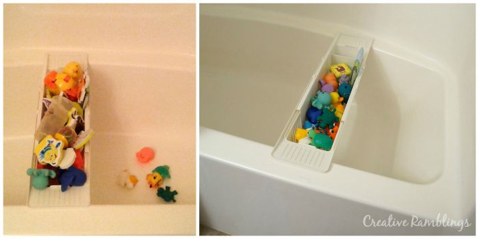 Organized kid friendly bathtub