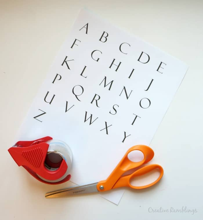 Alphabet cards for a travel busy box #TwizzlersSummer  [ad]