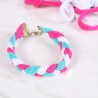 tshirt yarn bracelet with clasp