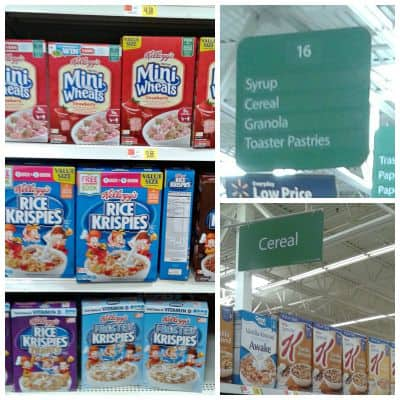 #Back2SchoolReady [ad] walmart cereal aisle
