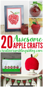 20 awesome apple crafts you can make this fall | www.creativeramblingsblog.com
