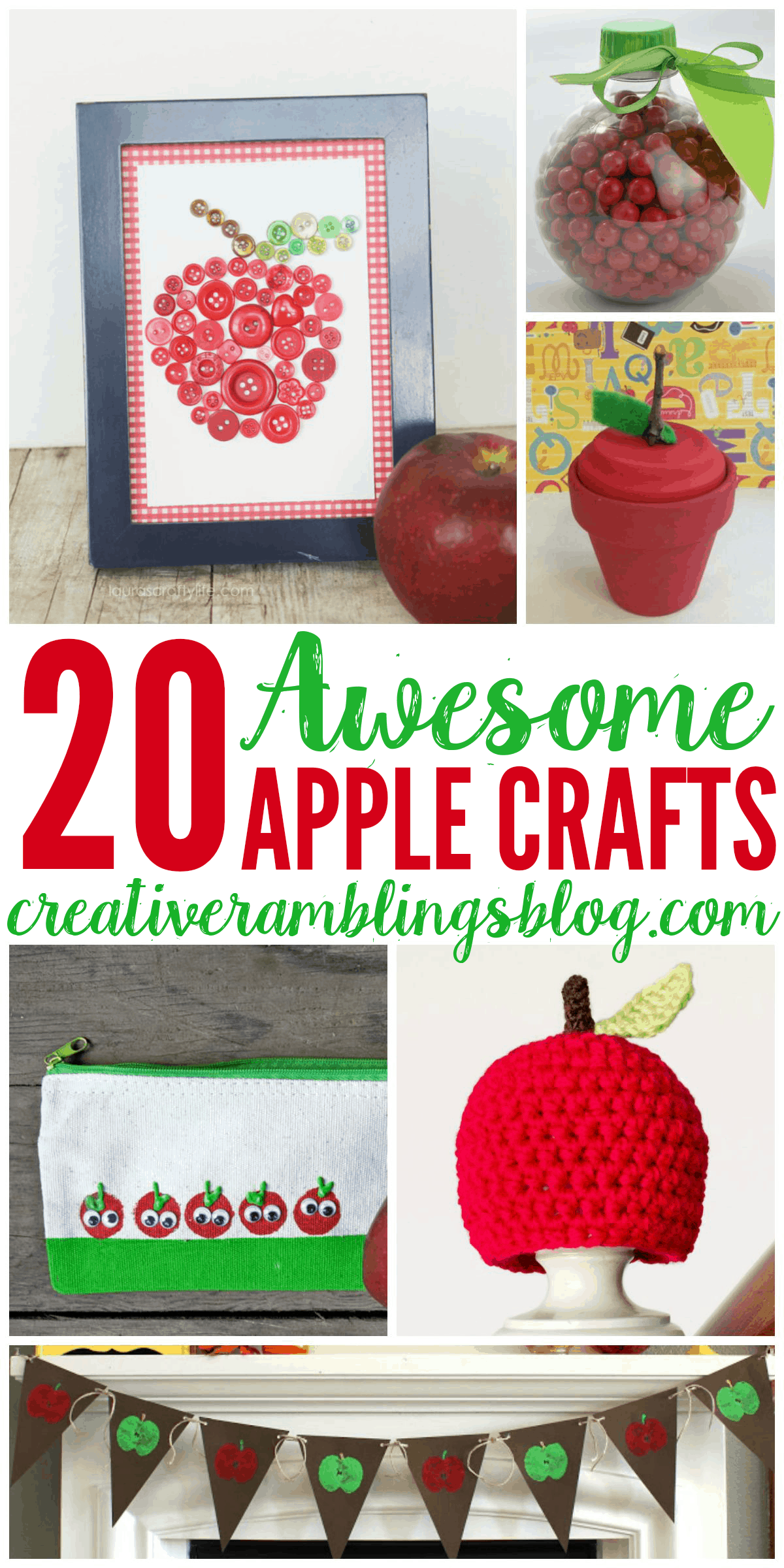 20 Awesome Apple Crafts Creative Ramblings
