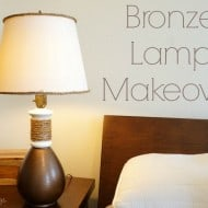 Bronze Lamp Makeover and Dose of DIY Hop
