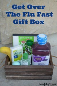 Create a gift basket for a sick friend during cold and flu season.