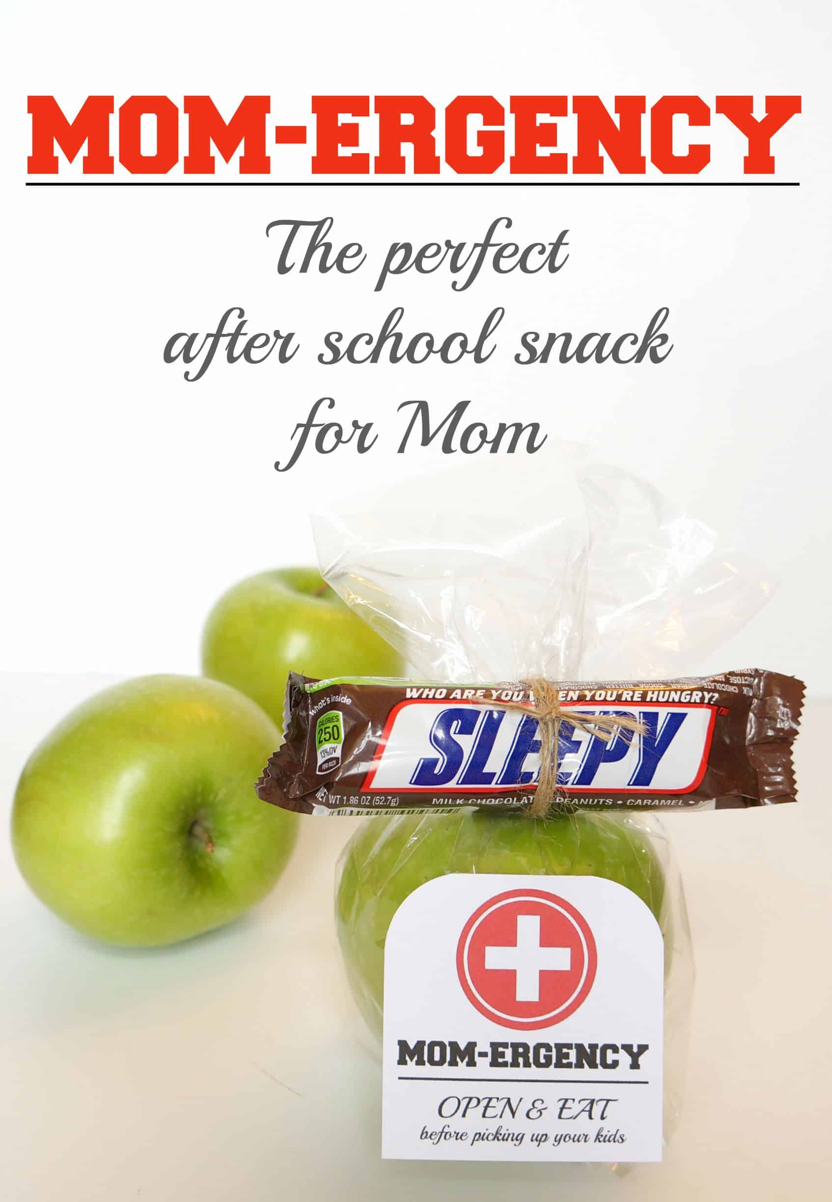 The perfect after school snack for Mom to help her combat hunger. A Mom-ergency! #EatASNICKERS #ad