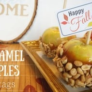 A Simple Caramel Apple Fall Gift with Free Tags
