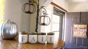 Upcycle baby food jars into beautiful fall decorations.