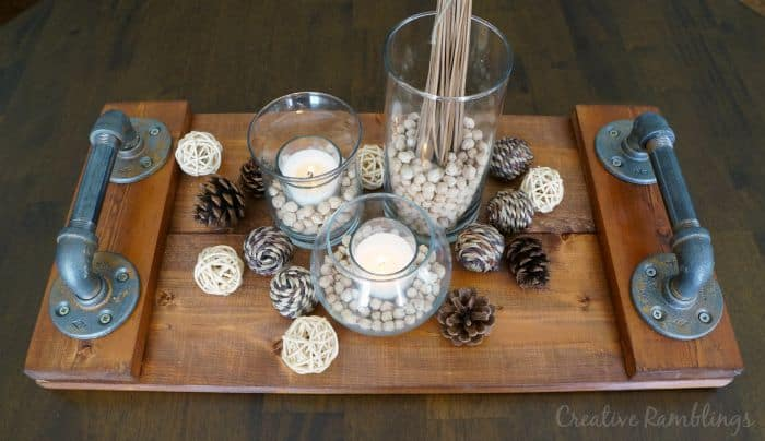 Warm and neutral fall centerpiece