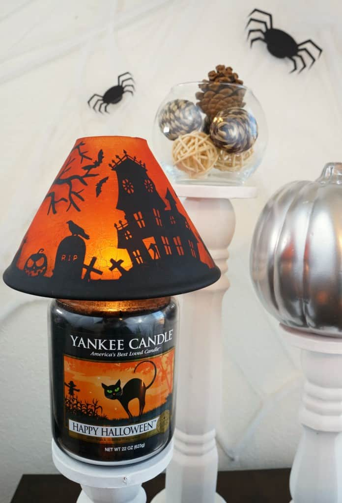 Simple and spooky halloween home decor, Yankee Candle Halloween jar candle shade