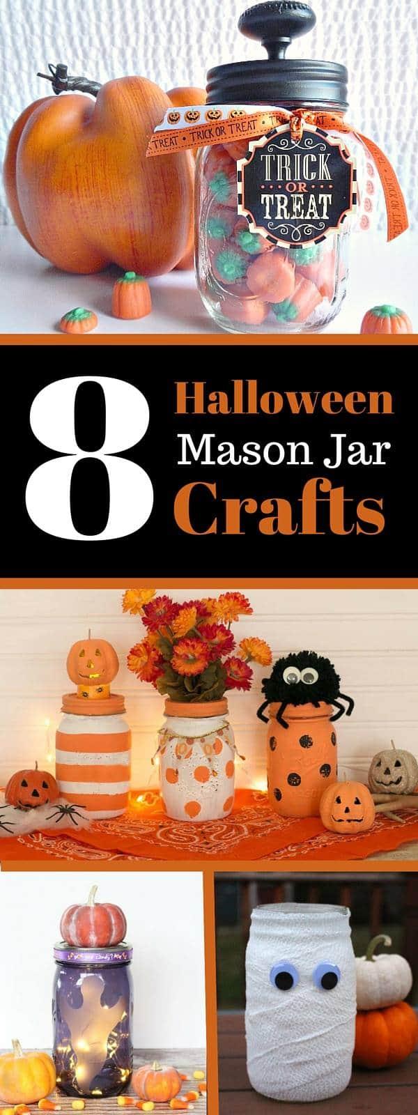 8 Halloween mason jar crafts #MasonJarMonday