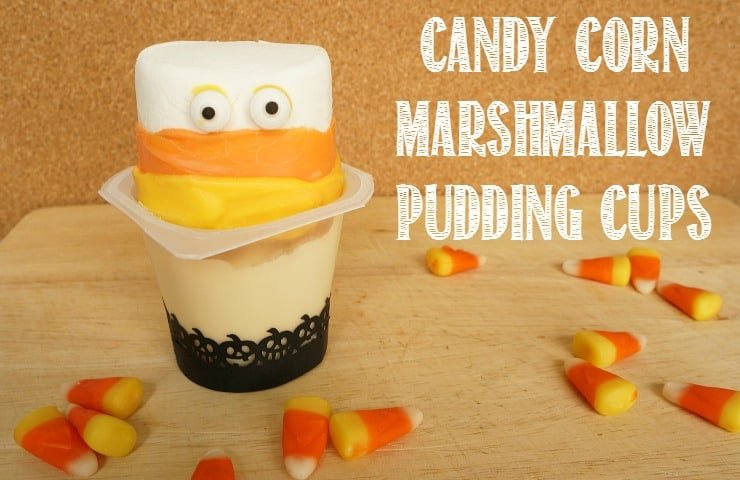 Candy Corn Marshmallow Pudding Cups