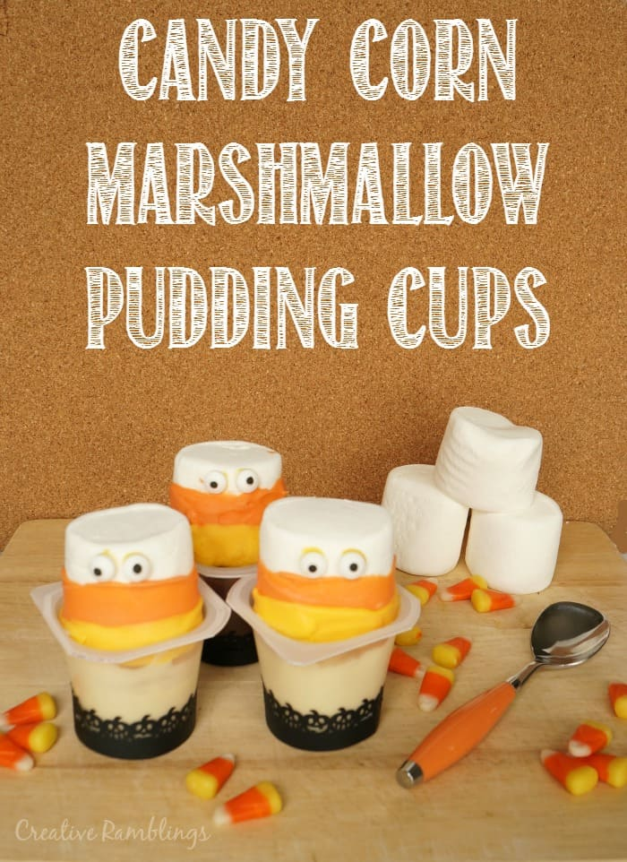 Make these fun Halloween treats with a few simple and delicious ingredients. Candy Corn Marshmallow pudding cups #MixInMonsterMash AD