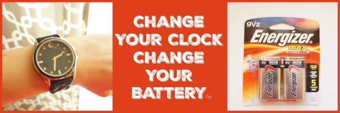 Change your clock change your battery Energizer® #ChangeYourClock #ad