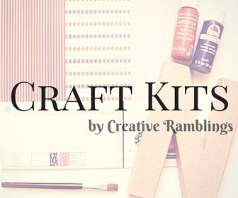 Craft kits from Creative Ramblings. Complete kits with supplies and instructions to create the projects you love from Creative Ramblings.