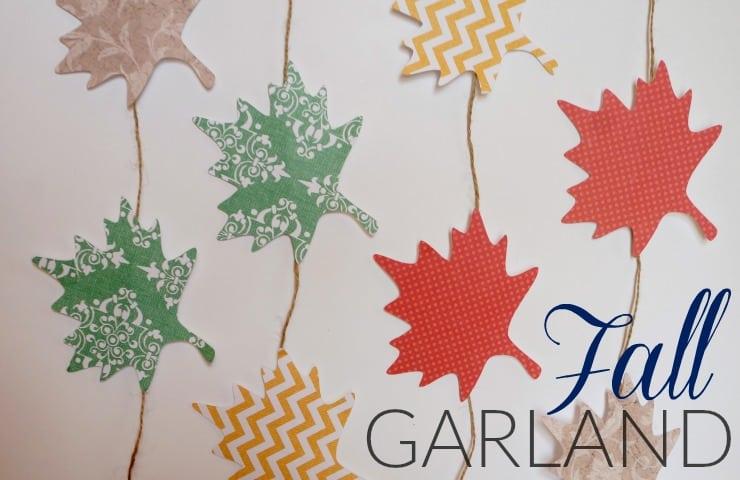 Fall paper leaf garland
