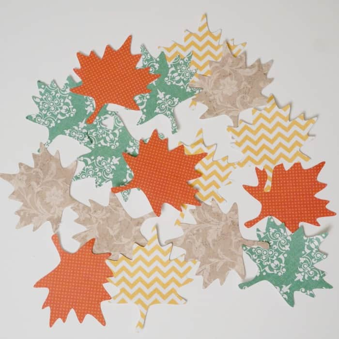 Cut paper leaves