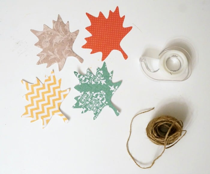 Fall leaf garland supplies