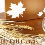 Metallic Fall Canvas