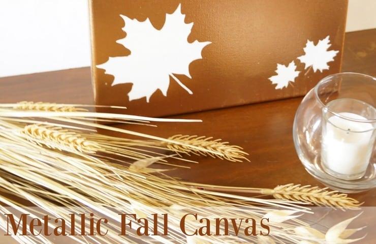 Metallic fall canvas #homeforfall
