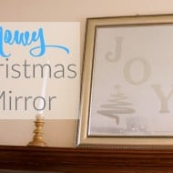 A Christmas Mirror with a Silhouette