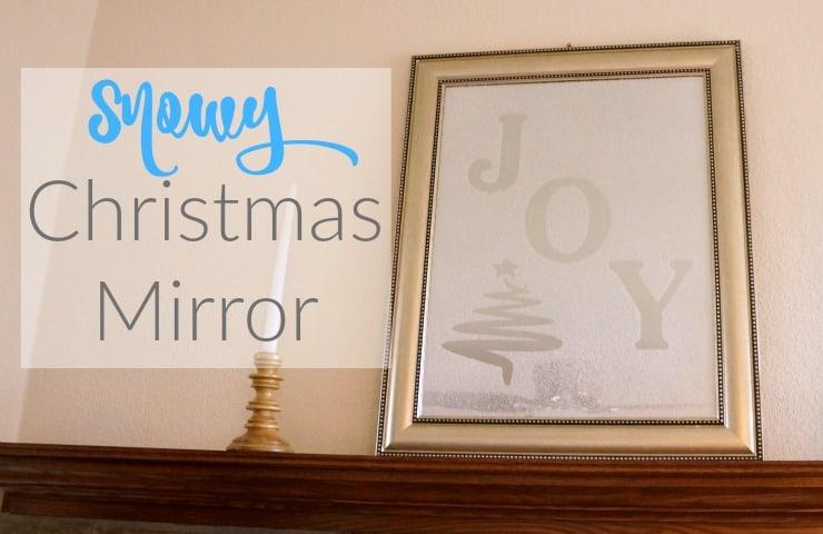 Silhouette christmas mirror