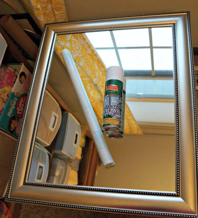 3 simple supplies for a snowy mirror