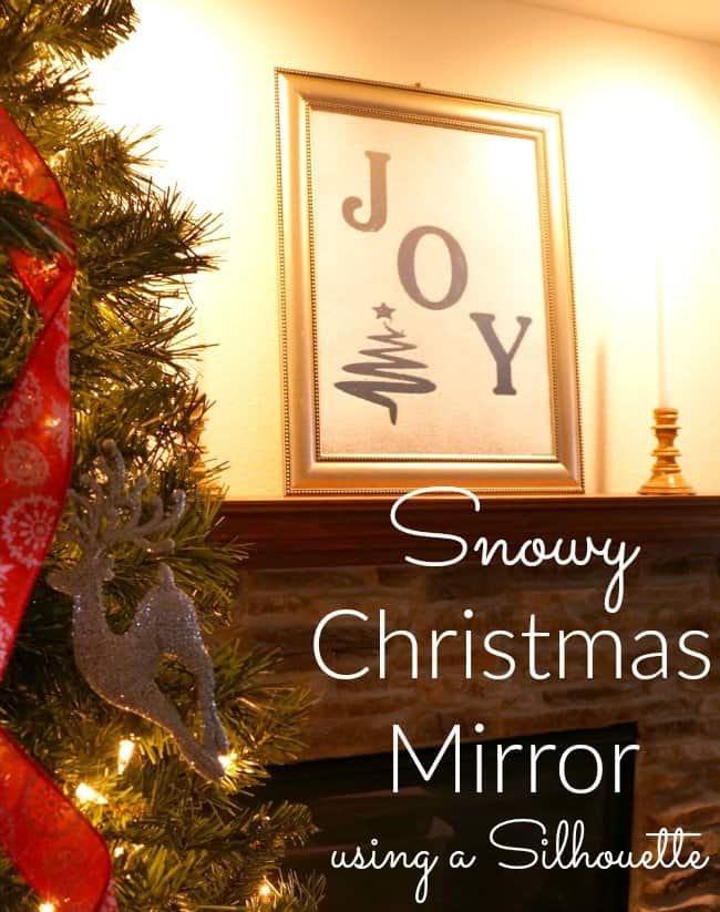 A mirror so simple you'll want to do it for every season. 3 simple supplies to make this beautiful snowy Christmas mirror