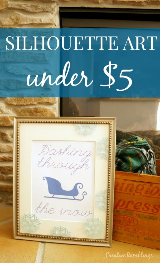 Create simple winter art using a Silhouette for under $5