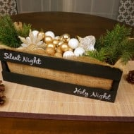 How to create a chalkboard centerpiece