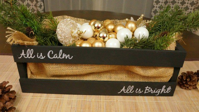 Silent Night on a Christmas Chalkboard centerpiece