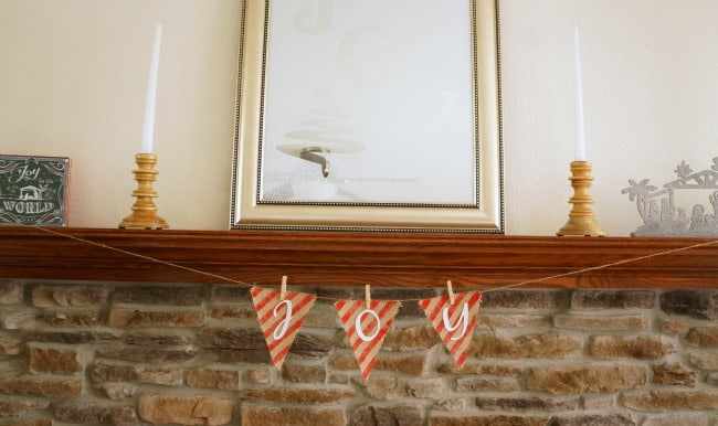 painted burlap Christmas banner