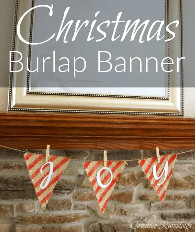 An easy burlap Christmas banner