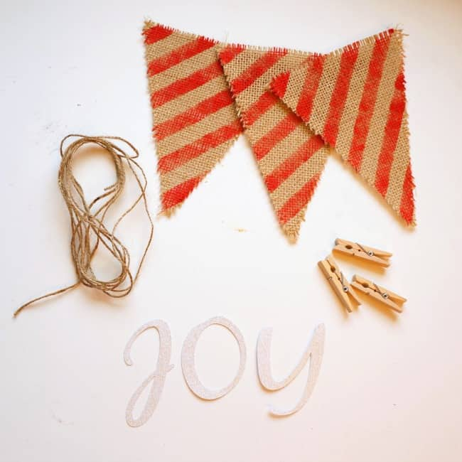 burlap banner supplies