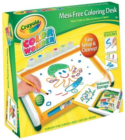 Crayola Color Wonder Mess Free Coloring Desk, a great gift for crafty kids