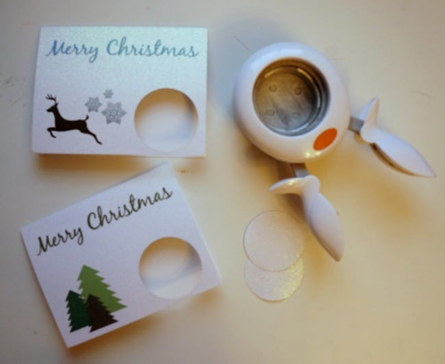 Easy no mess glitter place cards